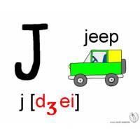 disegno di Lettera J Alfabeto Inglese a colori