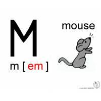 disegno di Lettera M Alfabeto Inglese a colori