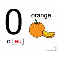 disegno di Lettera O Alfabeto Inglese a colori