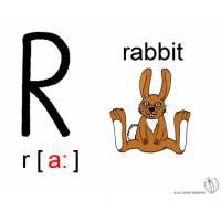 Disegno di Lettera R Alfabeto Inglese a colori