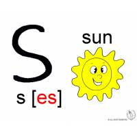 Disegno di Lettera S Alfabeto Inglese a colori