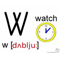 Disegno di Lettera W Alfabeto Inglese a colori
