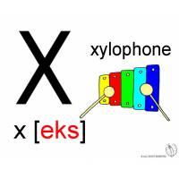 Disegno di Lettera X Alfabeto Inglese a colori