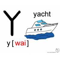 disegno di Lettera Y Alfabeto Inglese a colori