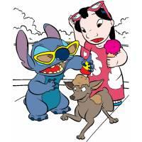 Disegno di Lilo & Stitch a colori
