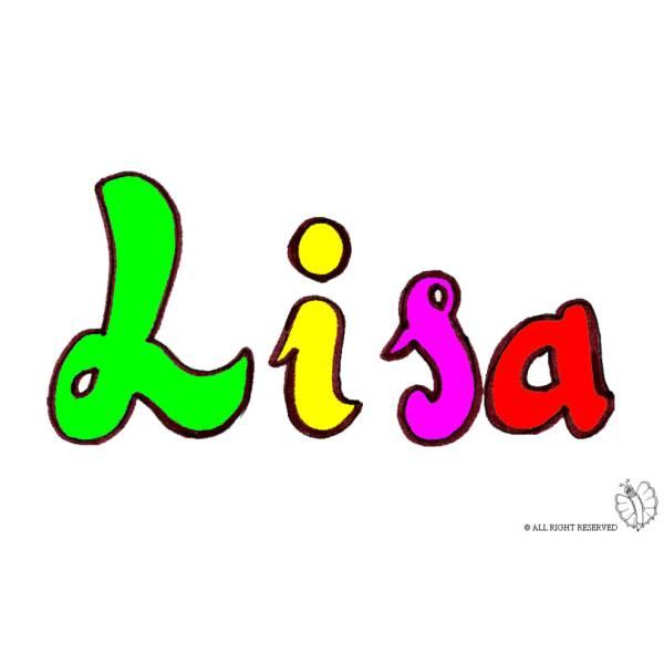Disegno di Lisa a colori
