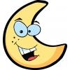 Disegno di Luna con Sorriso a colori