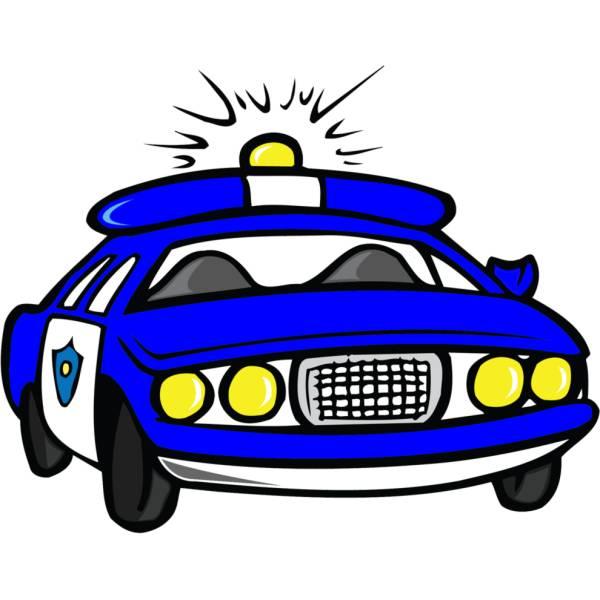 Disegno Di Macchina Della Polizia A Colori Per Bambini