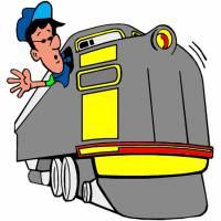Disegno di Il Macchinista del Treno a colori