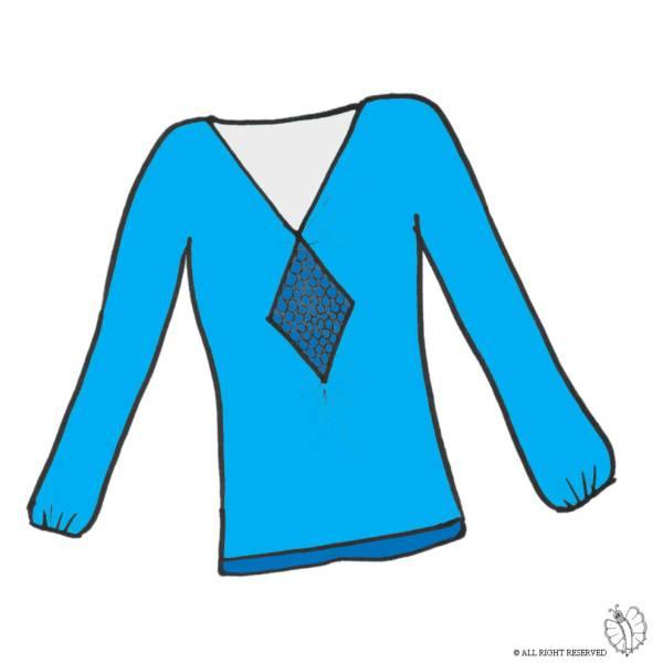 Disegno di Maglietta Donna a colori