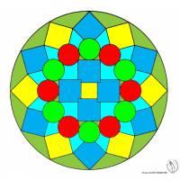 Disegno di Mandala 1 a colori