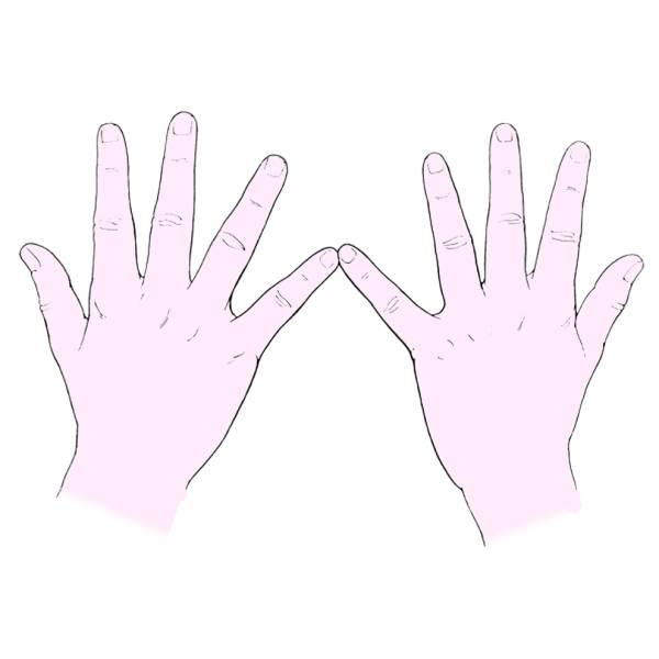 Disegno di Le Mani a colori