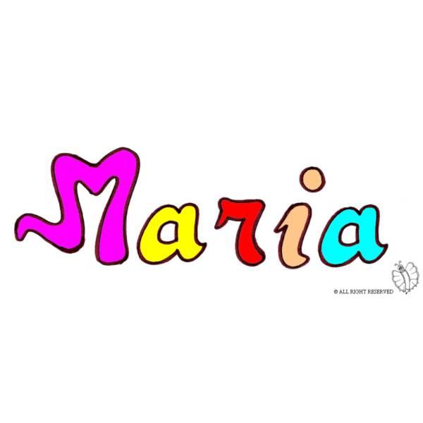 Disegno di Maria a colori