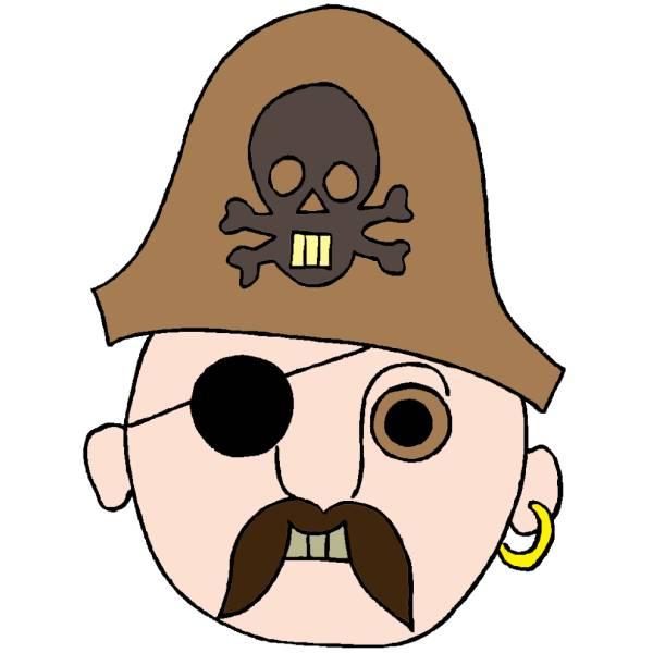 Disegno di Maschera del Pirata a colori