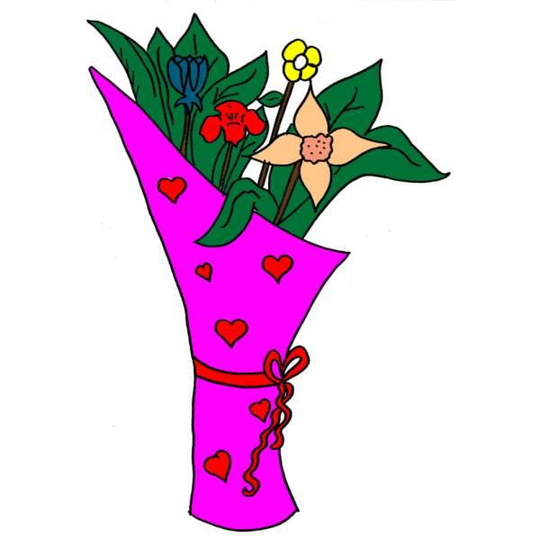 Disegni di fiori colorati disegni da fiori colorati for Fiori stilizzati colorati