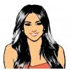Disegno di Miley Cyrus a colori