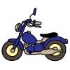 Disegno di Moto a colori