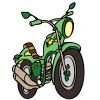 Disegno di Motocicletta a colori