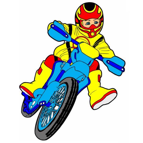 Disegno di Motocross a colori