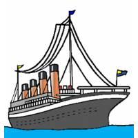 Disegno di Nave per Crociera a colori