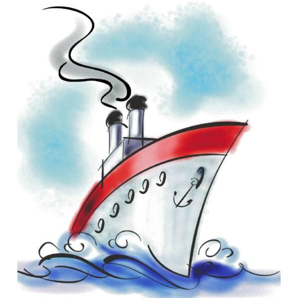 Disegno di Nave da Crociera a colori