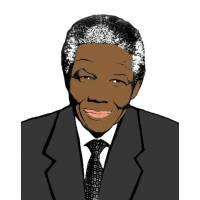 disegno di Nelson Mandela a colori