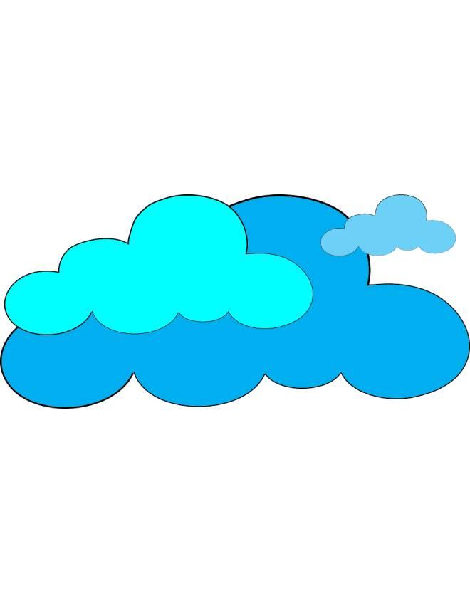 disegno di Nuvole a colori