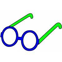 Disegno di Occhiali per Bambini a colori