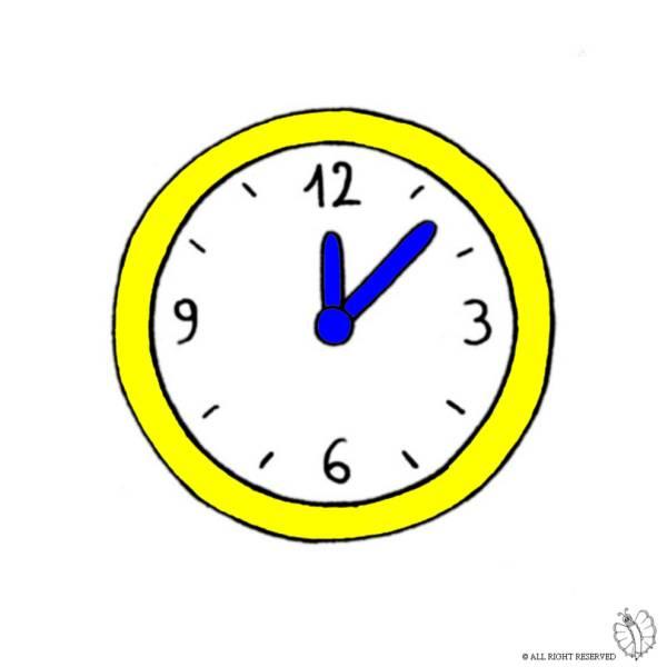 Disegno di orologio a parete a colori per bambini for Disegni da parete