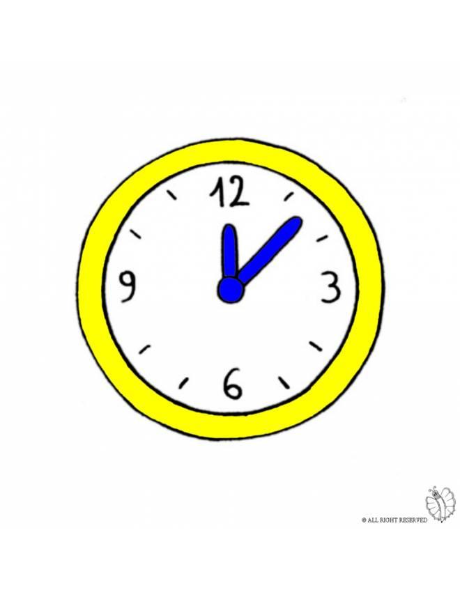 Disegno di orologio a parete a colori per bambini for Foto orologio da parete