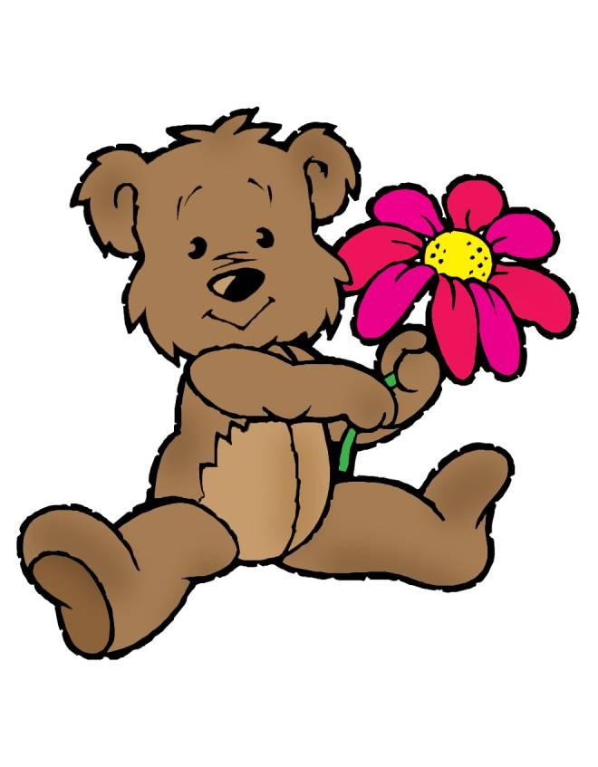 Disegno di orsacchiotto di peluche a colori per bambini - Orsacchiotto da colorare in ...