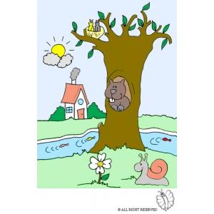 Disegno di paesaggio naturale a colori per bambini gratis for Disegni colorati paesaggi