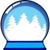 Disegno di Palla di Vetro con Neve a colori