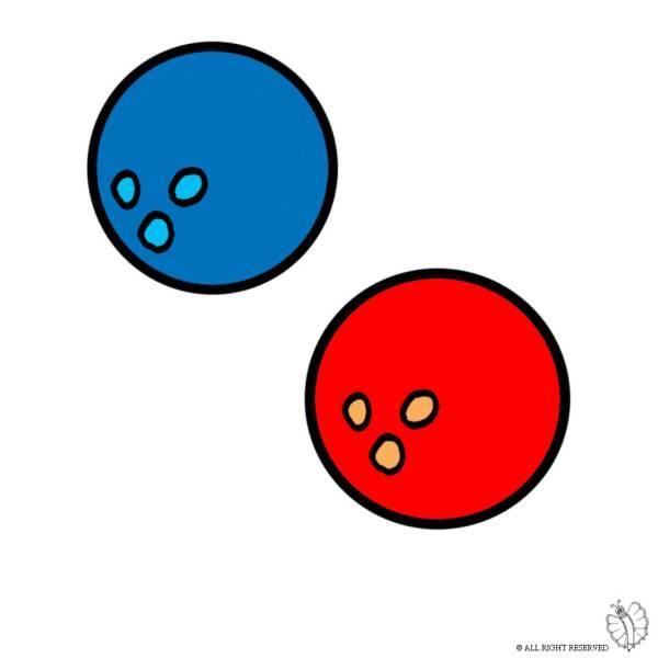 Disegno di Palle da Bowling a colori