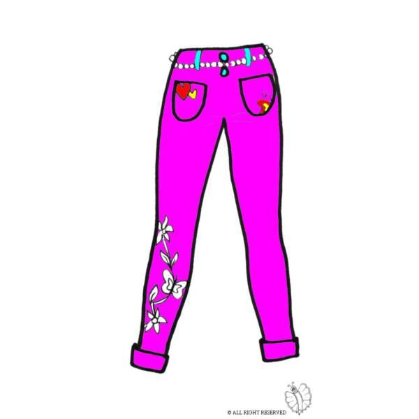 Disegno di Pantaloni Donna a colori