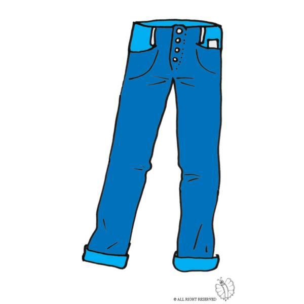 Disegno di Pantaloni Uomo a colori