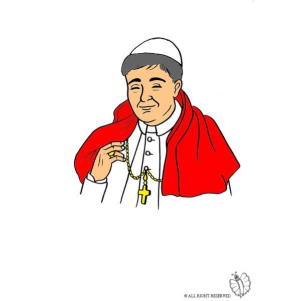 Disegno di Il Papa a colori