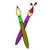 Disegno di Pennelli a colori