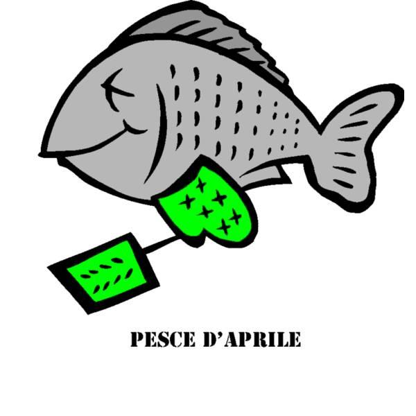 Disegno di Pesce di Aprile a colori