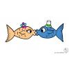 disegno di Pesci Innamorati a colori
