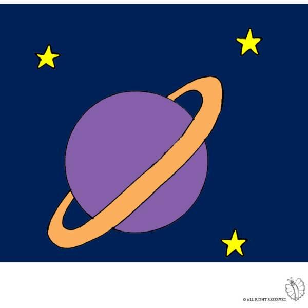 Disegno Di Saturno A Colori Per Bambini Disegnidacolorareonline Com