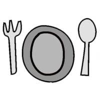 Disegno di Piatto Forchetta Cucchiaio a colori