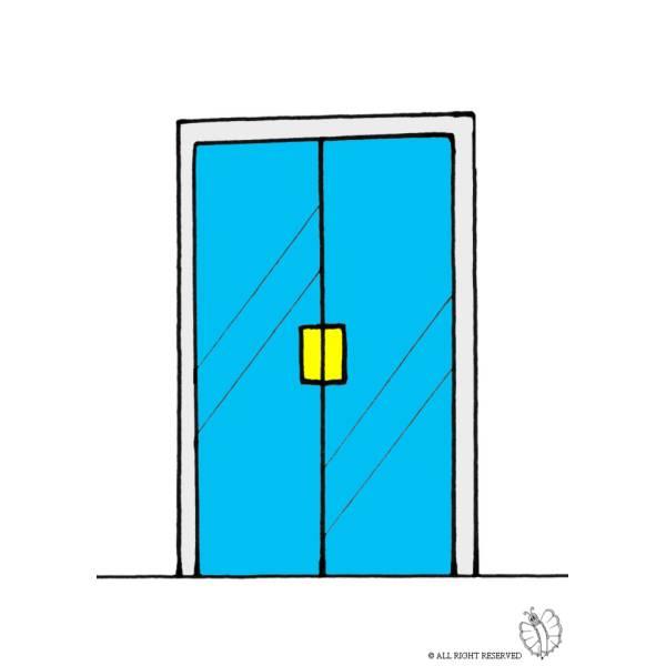 disegno di porta di vetro a colori per bambini