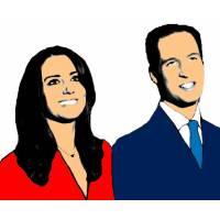 disegno di Principe William e Kate a colori