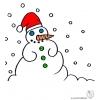 disegno di Pupazzo di Neve a colori