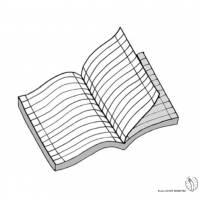 Disegno di Quaderno a Righe a colori