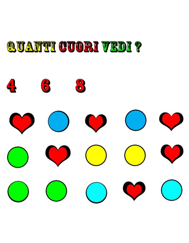 Disegno di quiz matematica a colori per bambini