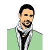 Disegno di Raul Bova a colori