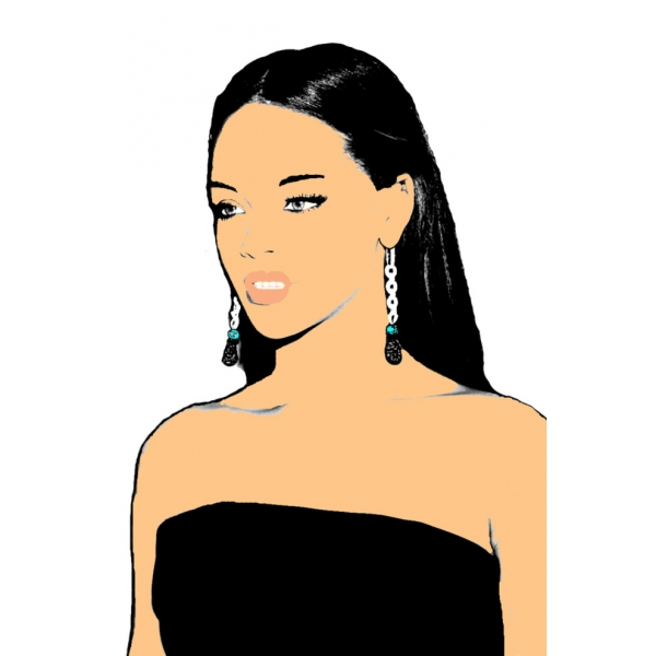 Disegno di Rihanna a colori