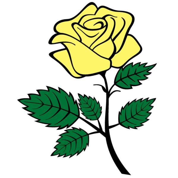 disegno di rosa a colori per bambiniForColorare Le Rose